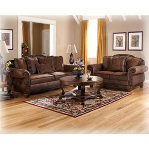 Signature Design by Ashley Furniture Bradington - Truffle Bradington Truffle Sofa & Loveseat