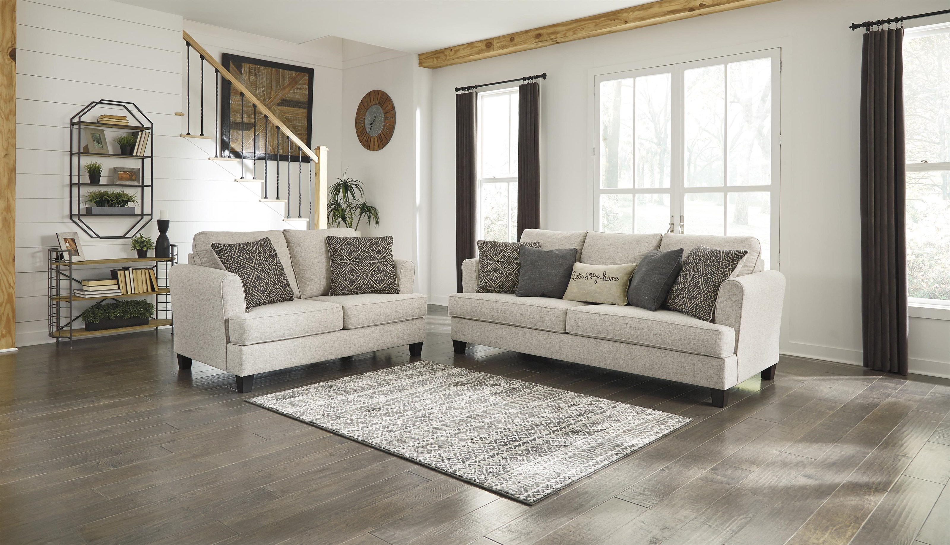 Alcona Beige Sofa and Loveseat Set by Ashley Furniture at Sam Levitz  Furniture