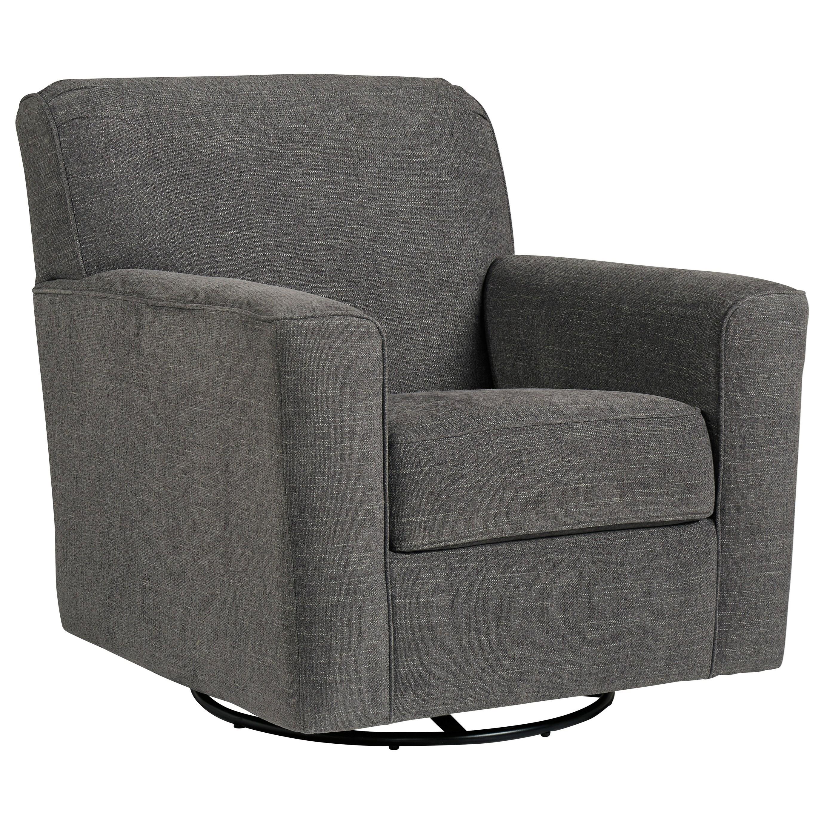 Ashley Furniture Superstore: Ashley Furniture Alcona Swivel Glider Accent Chair In Gray