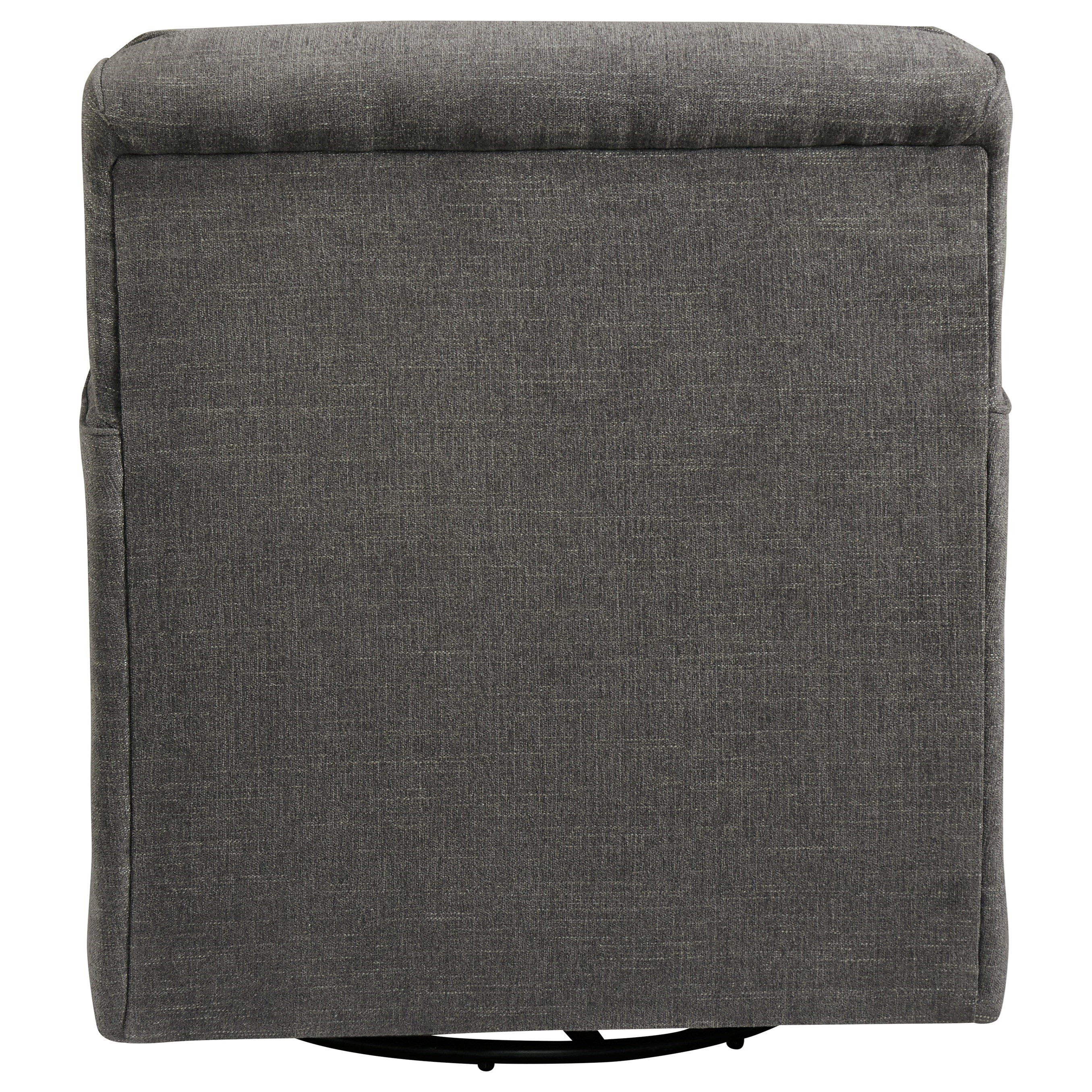Alcona Linen Swivel Glider Accent Chair Texas: Ashley Furniture Alcona Swivel Glider Accent Chair In Gray
