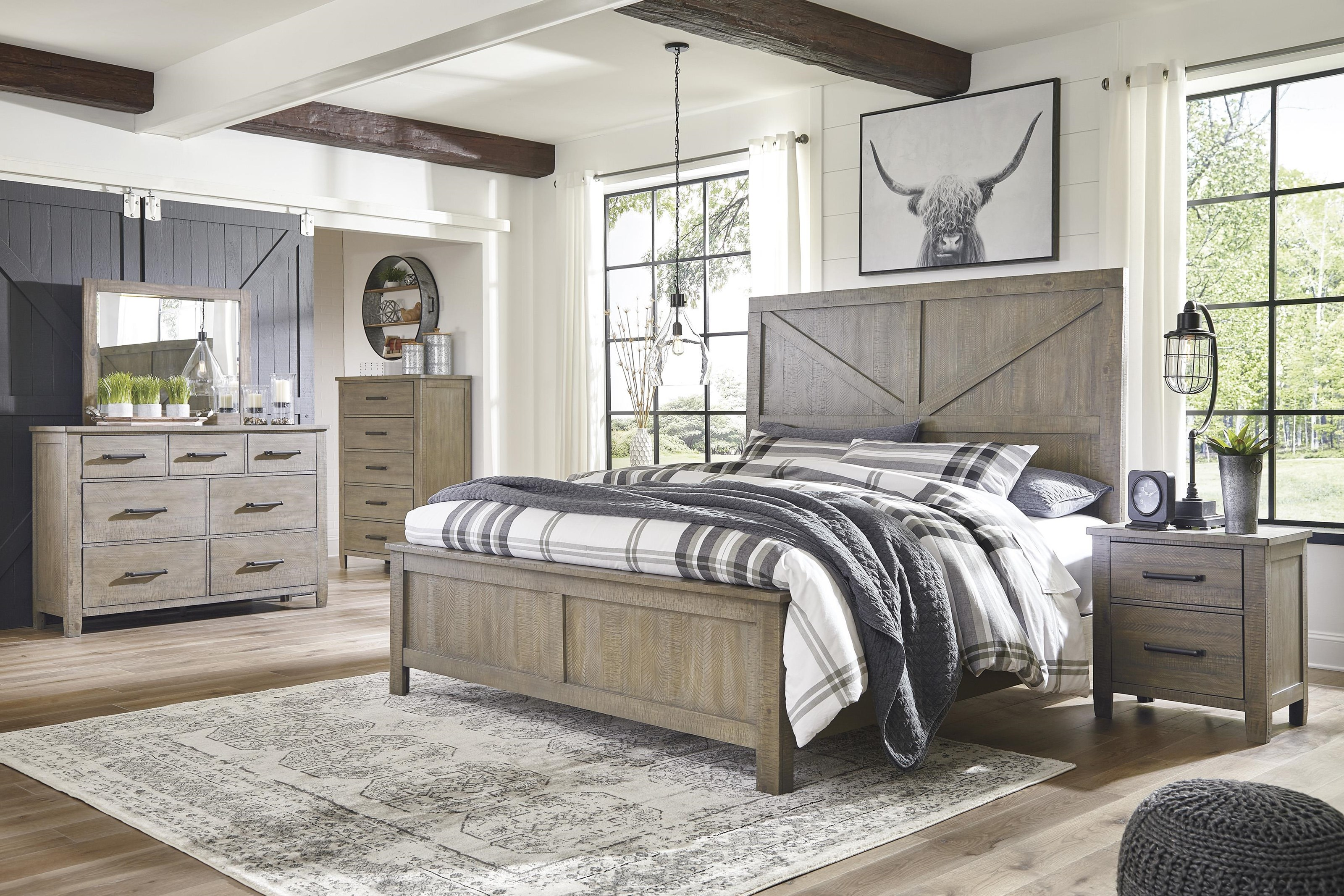 Queen Panel Bed Package