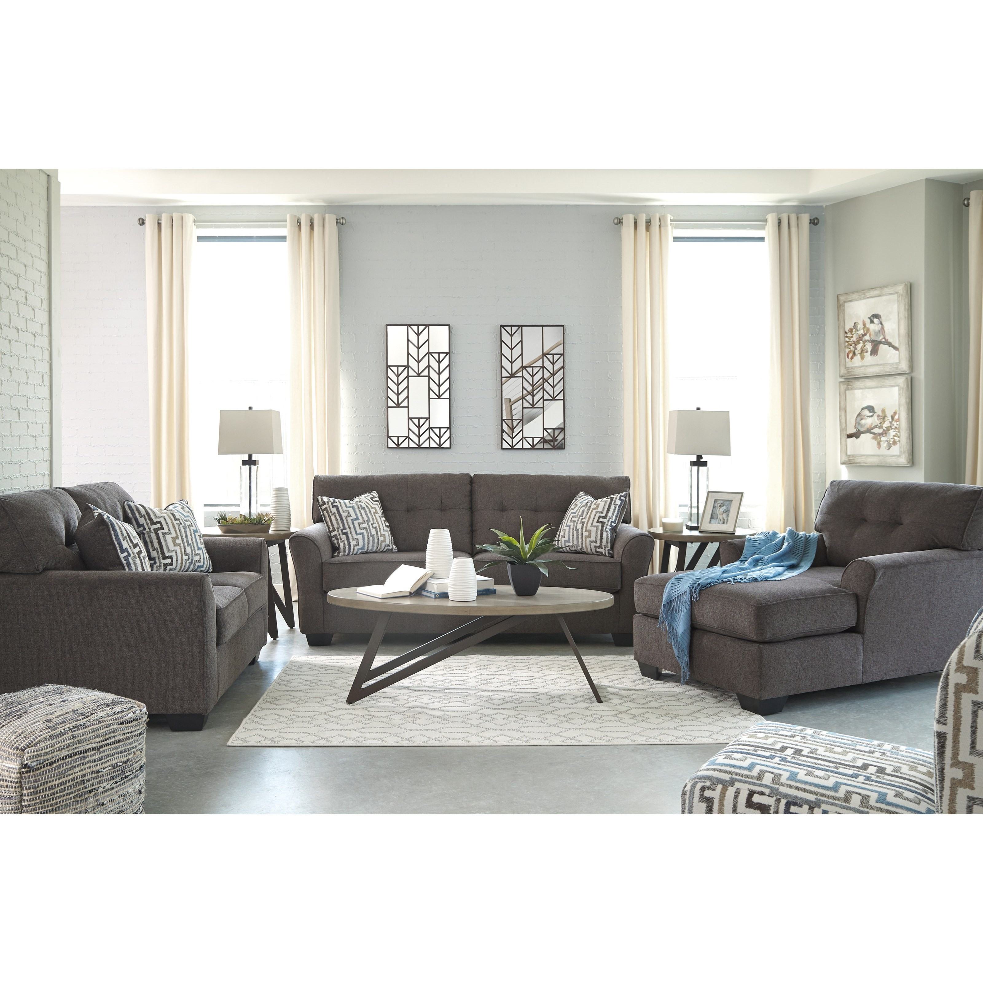 Living Room Furniture Nj: Benchcraft Alsen Contemporary Full Sofa Sleeper With