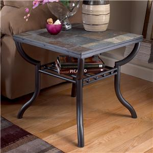 Signature Design by Ashley Furniture Antigo Slate Top Square End Table