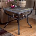 Signature Design by Ashley Antigo Slate Top Square End Table - Item Number: T2332-233