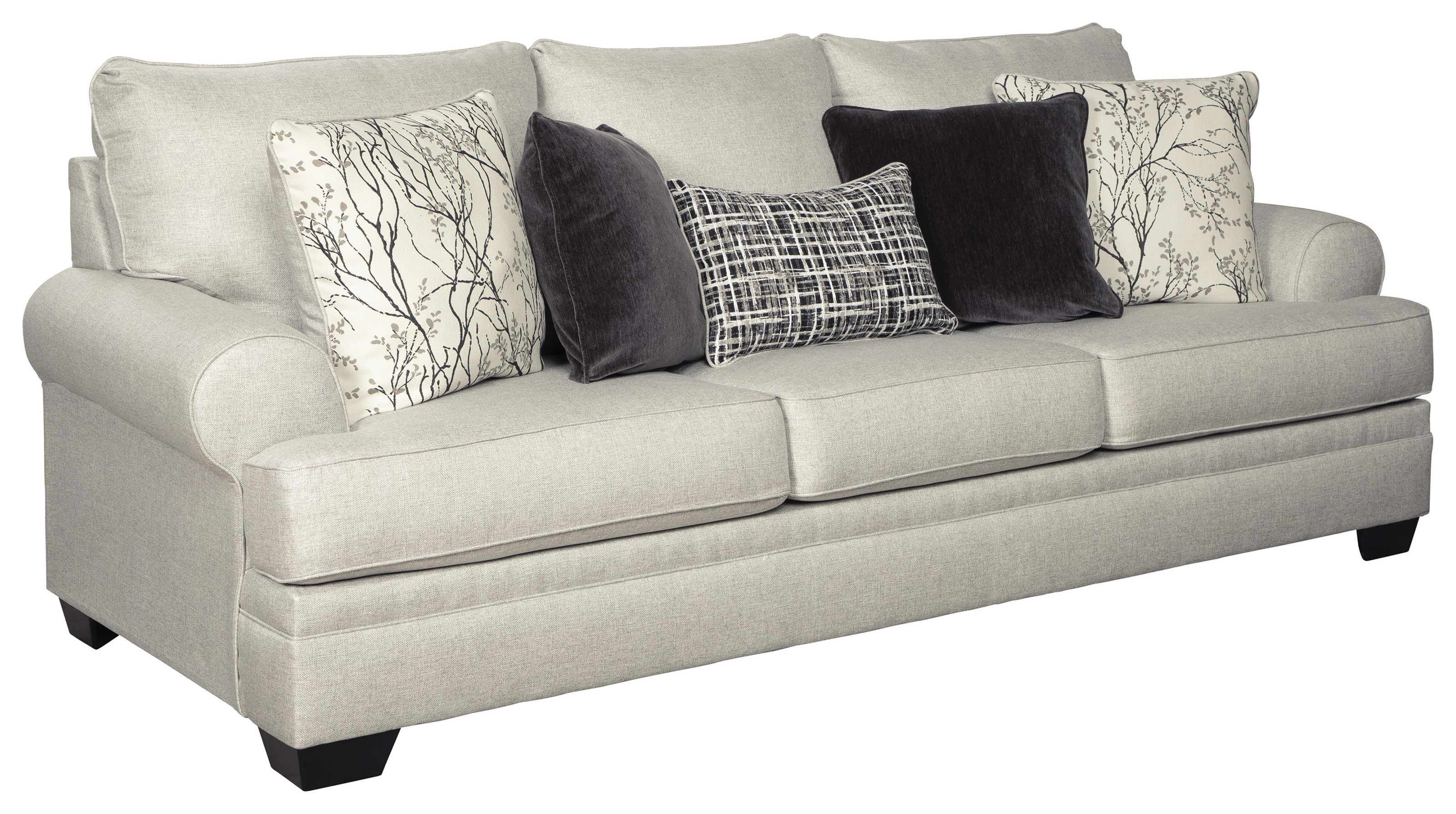 - Ashley Furniture Antonlini 2100139 Queen Sleeper Fog Sofa Sam