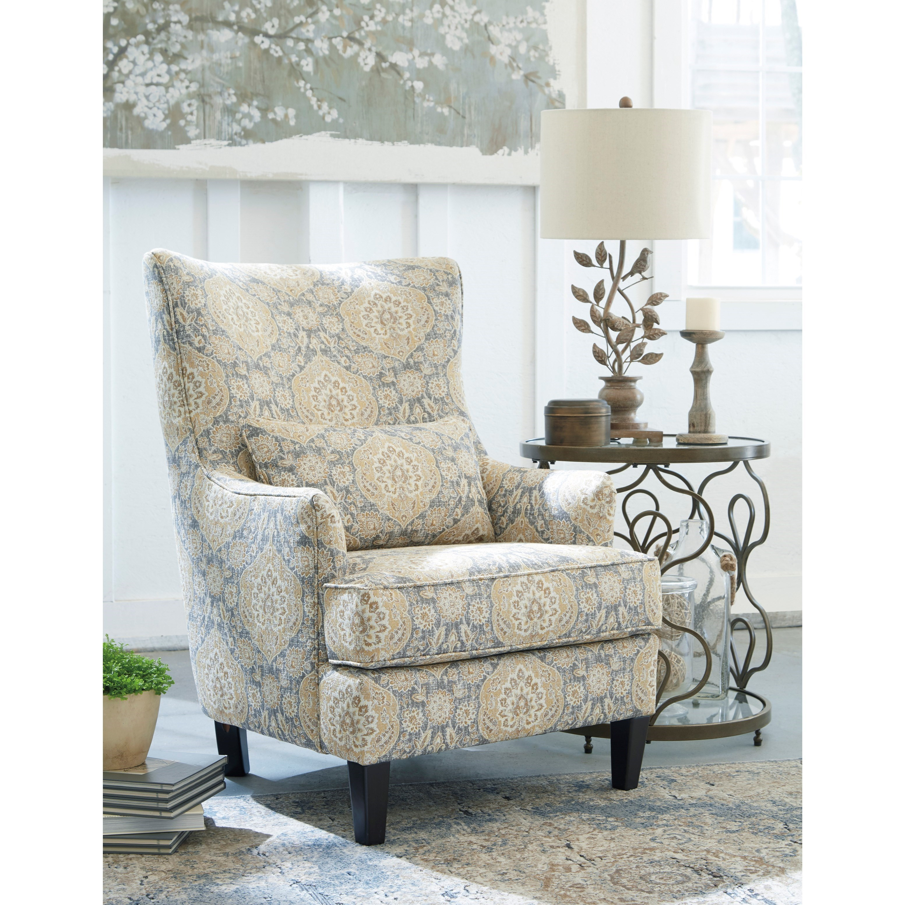 Ashley Furniture Bryant Ar Collection Collection Ashley: Ashley Furniture Aramore Scalloped Wingback Accent Chair