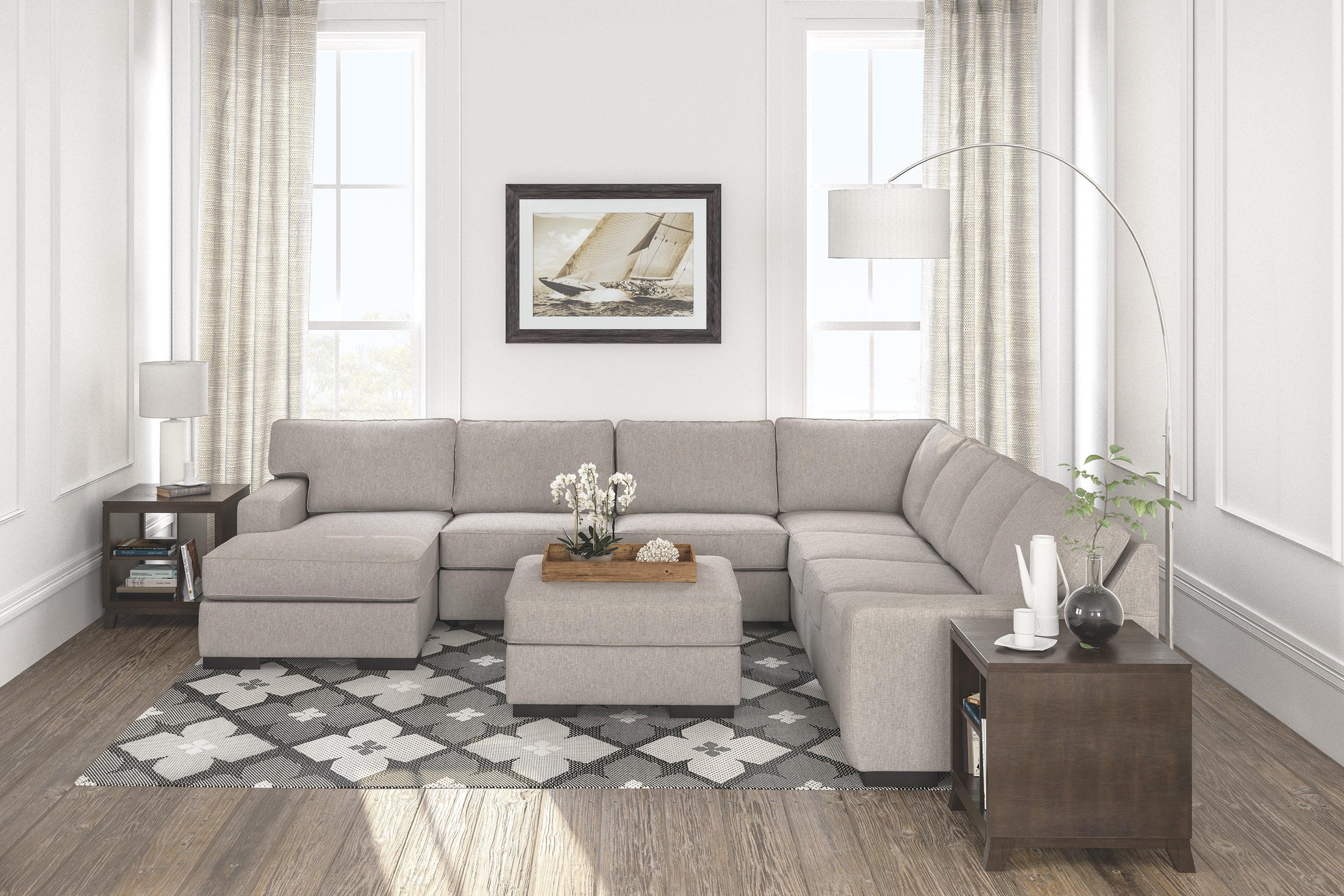 5 PC Sectional and Ottoman Set