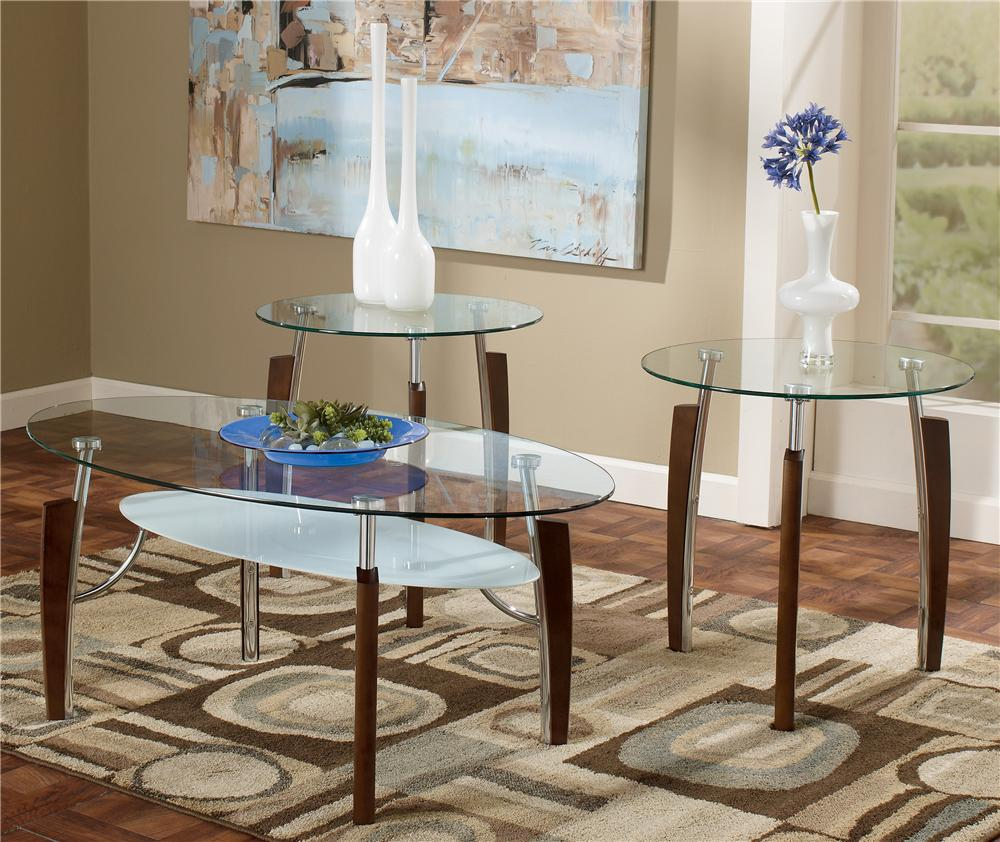 Signature Design by Ashley Avani 3-in-1 Pack Occasional Tables - Item Number: T225-13