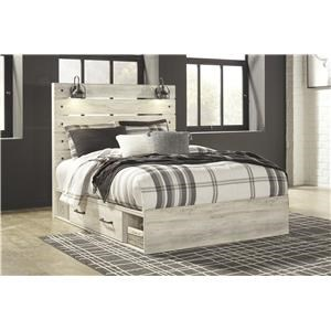 Queen Storage Bed with Lights