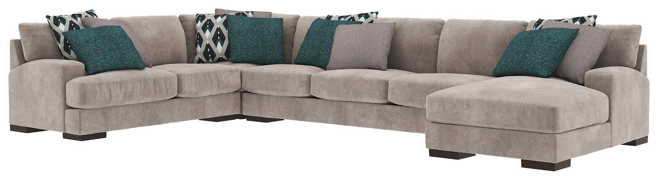 4 PC Sectional and Ottoman Set