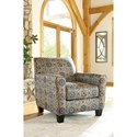 Ashley Furniture Belcampo Accent Chair with Medallion Pattern Fabric