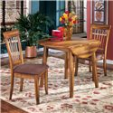 Ashley Furniture Berringer 3-Piece Drop Leaf Table & Side Chair Set - Item Number: D199-15+2x01