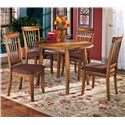 Ashley Furniture Berringer 5-Piece Drop Leaf Table & Side Chair Set - Item Number: D199-15+4x01