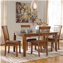 Ashley Furniture Berringer 5-Piece 36x60 Table & Chair Set - Item Number: D199-25+4x01