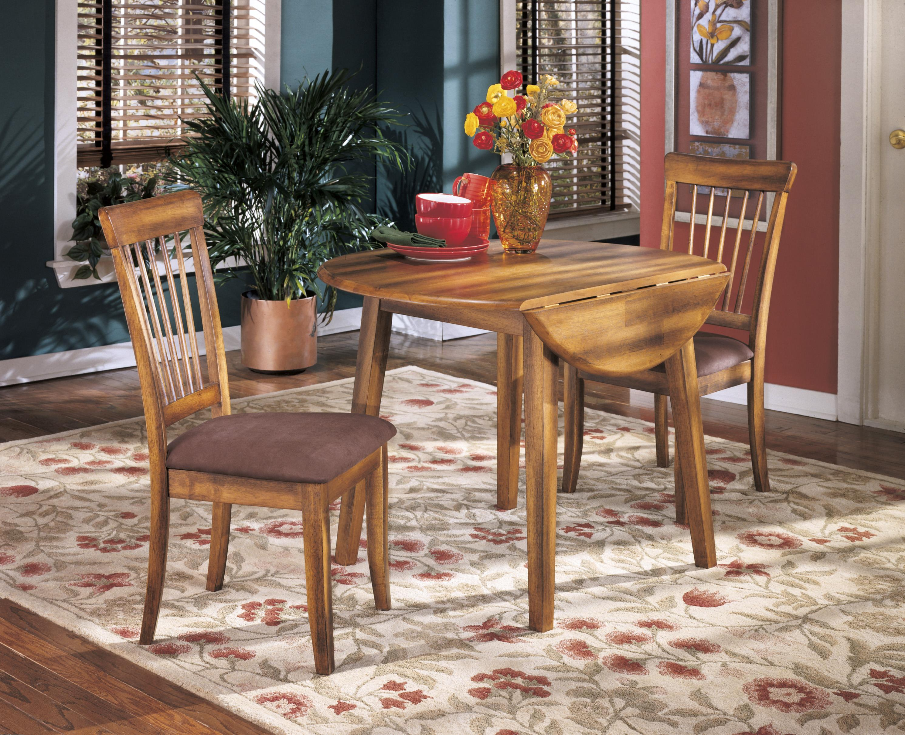 Ashley Furniture Berringer Hickory Stained Hardwood Round ...