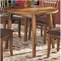 Ashley Furniture Berringer Hickory Stained Hardwood Round Drop Leaf Table