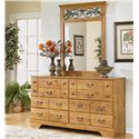 Signature Design by Ashley Bittersweet 6 Drawer Dresser - Shown with Mirror