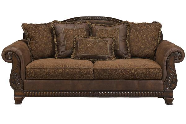 Ashley Furniture Bradington - Truffle Truffle Sofa - AHFA - Sofa