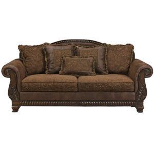 Ashley Furniture Bradington   Truffle Sofa