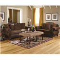Ashley Furniture Bradington - Truffle Upholstered Loveseat - 1540035