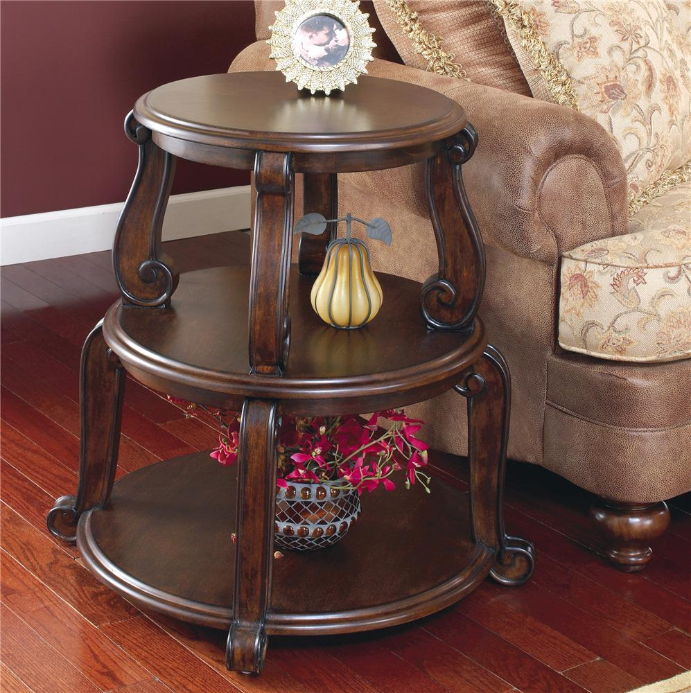 Signature Design by Ashley Brookfield Drum Table - Item Number: T496-2