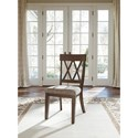 Ashley Furniture Brossling Dining Room Side Chair with Upholstered Seat