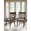 Ashley Furniture Brossling Dining Room Arm Chair with Upholstered Seat
