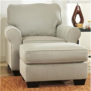 Ashley Furniture Caci Chair & Ottoman