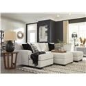 Ashley Furniture Cambri 2 PC Sectional and Storage Ottoman Set - Item Number: 123392805