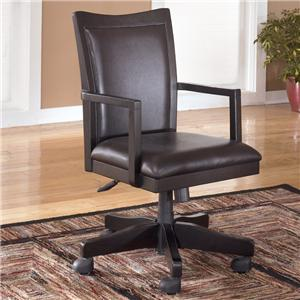 Ashley Signature Design Carlyle Arm Chair with Swivel and Adjustable Height