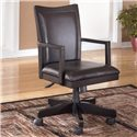 Signature Design by Ashley Carlyle Arm Chair with Swivel and Adjustable Height - Item Number: H371-01A