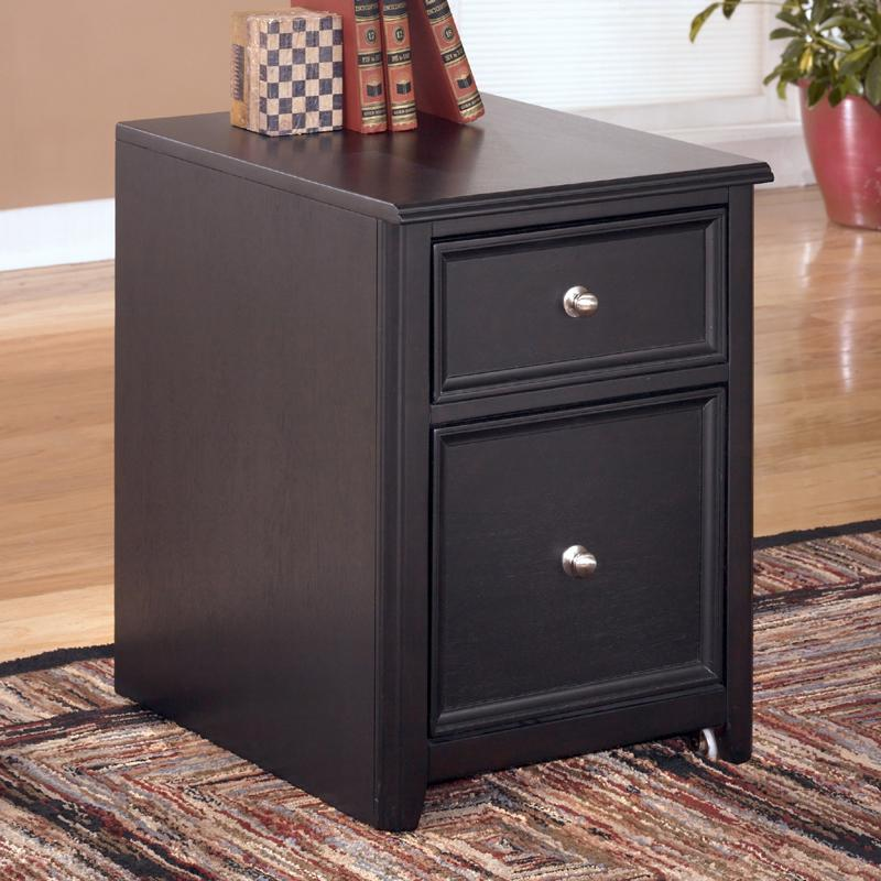 Signature Design by Ashley Carlyle 2 Drawer Mobile File Cabinet - Item Number: H371-12