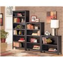 Signature Design by Ashley Carlyle Medium Bookcase - Shown with Large and Small Bookcase