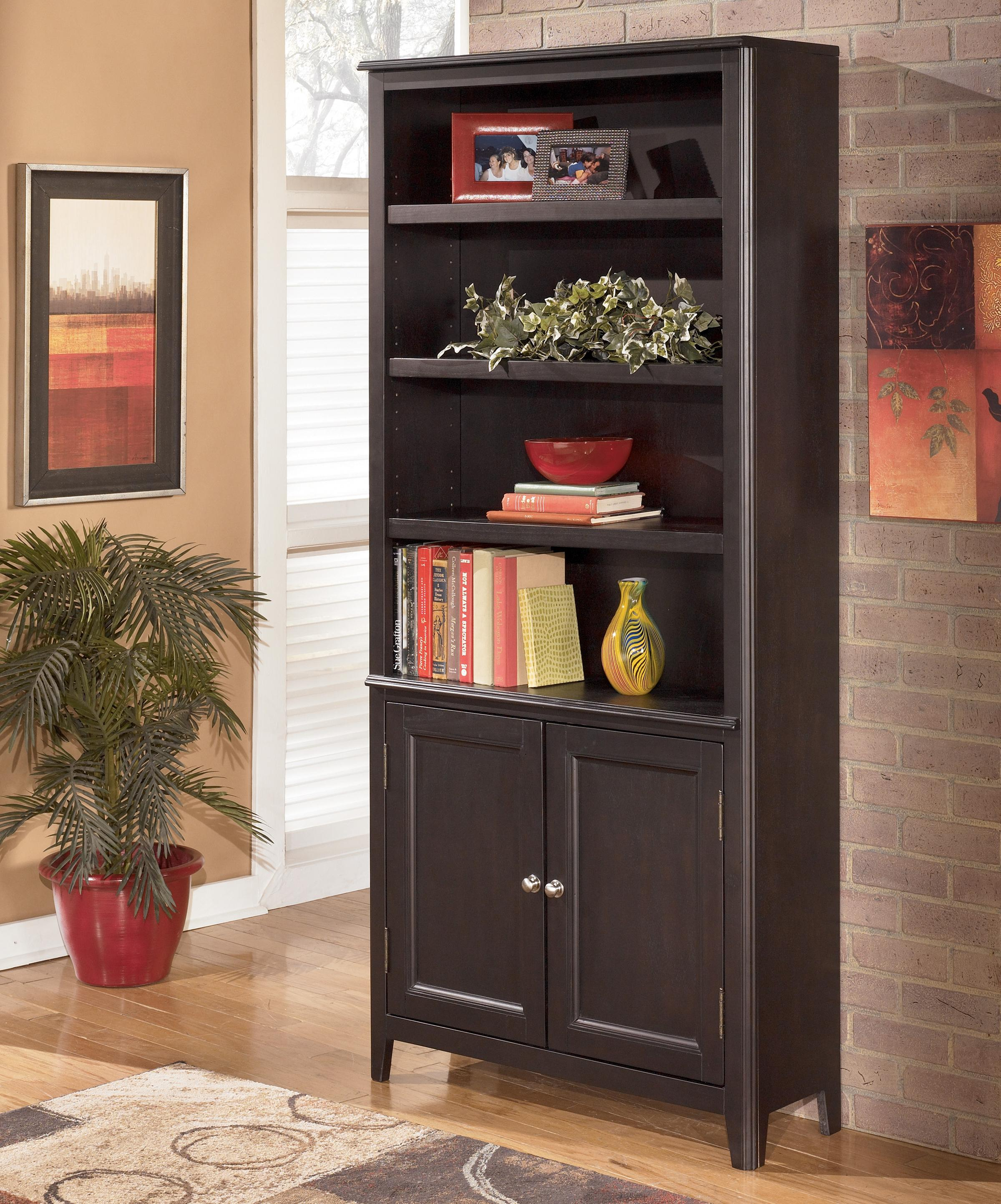 Signature Design by Ashley Carlyle Large Door Bookcase - Item Number: H371-18