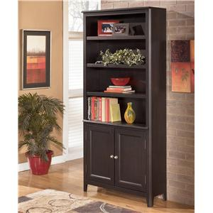 Signature Design by Ashley Carlyle Large Door Bookcase