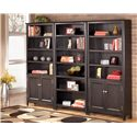 Signature Design by Ashley Carlyle Large Door Bookcase - 2 Large Door Bookcases Shown with Large Bookcase