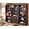 Signature Design by Ashley Carlyle Large Door Bookcase - 2 Large Bookcases Shown with 2 Door Large Bookcase