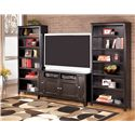 Signature Design by Ashley Carlyle 60 Inch TV Stand - Shown with 2 Large Bookcases