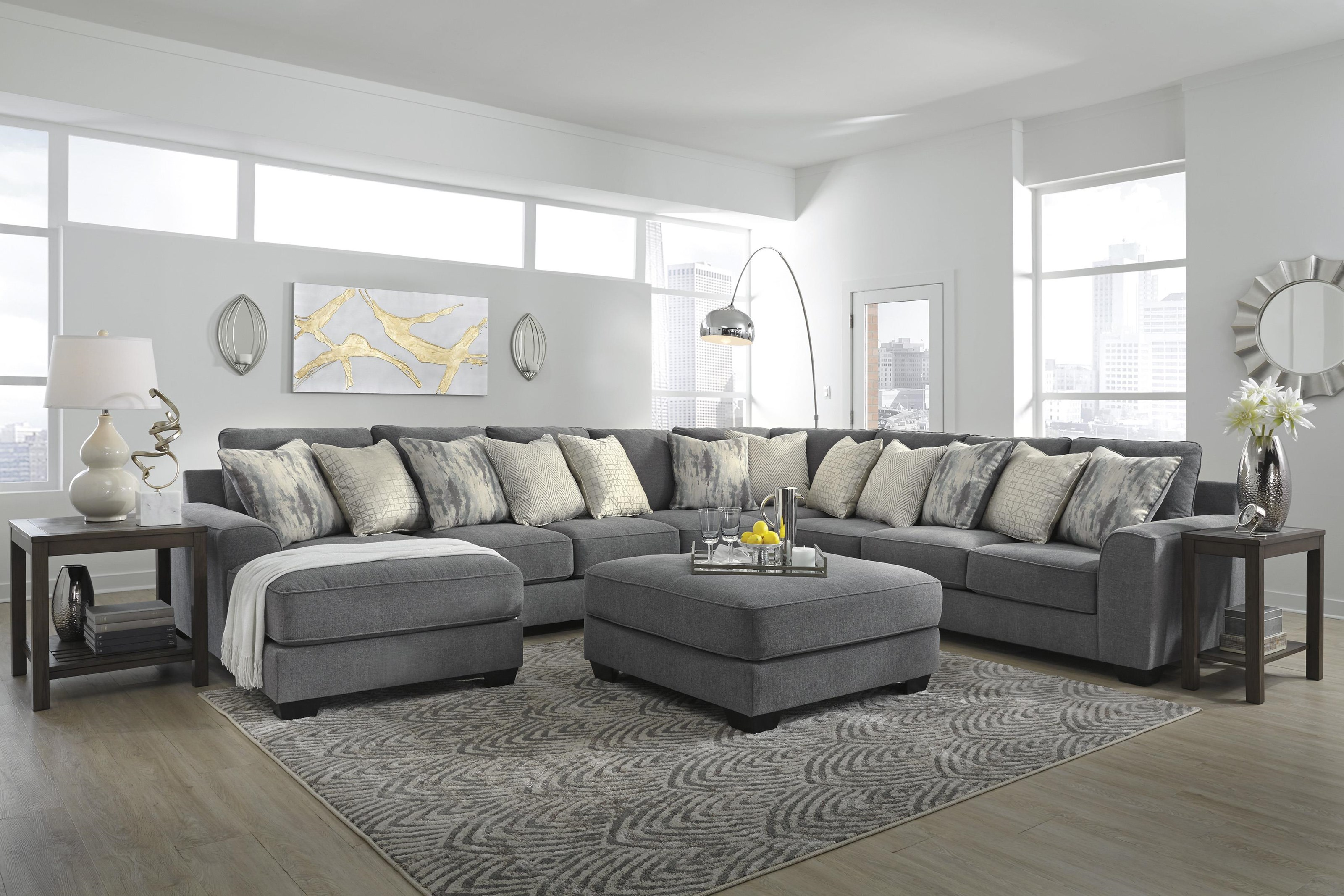 5 Piece Sectional with Ottoman