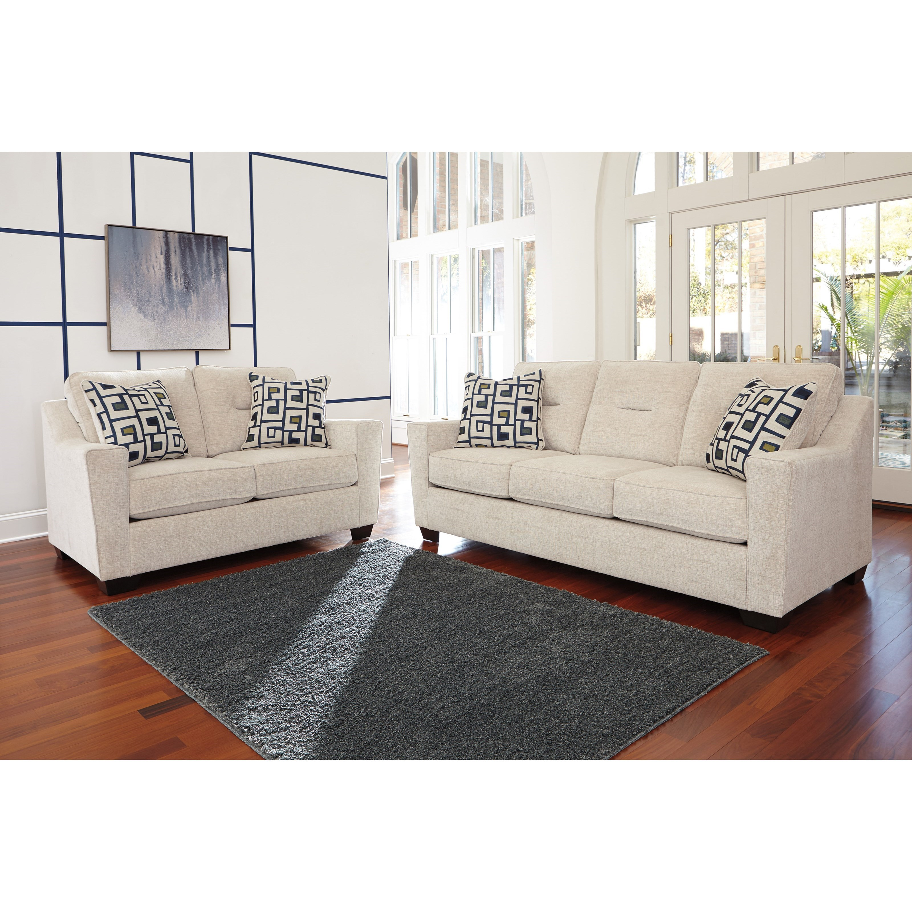 Ashley Furniture Cerdic Stationary Living Room Group - Item Number: 36400 Living Room Group 1