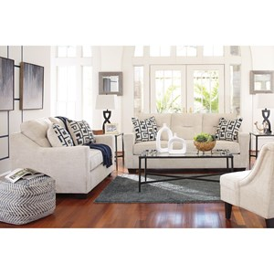 Charming Stationary Living Room Group