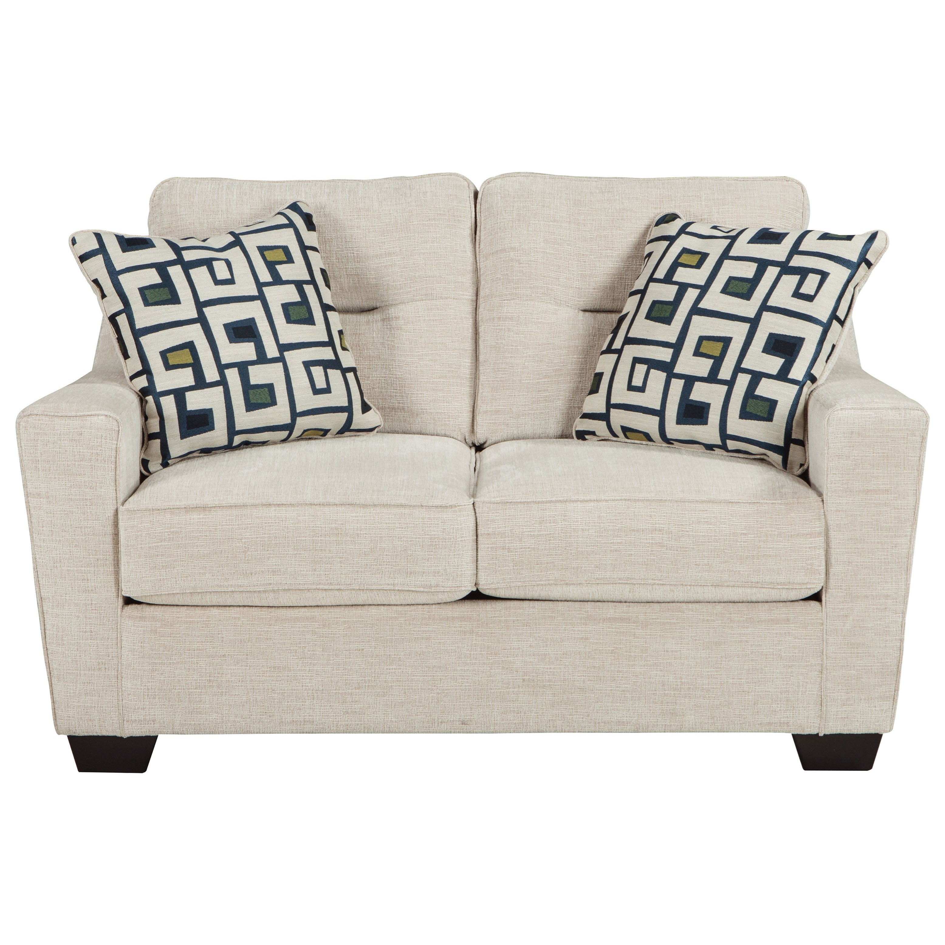 Ashley Furniture Cerdic Contemporary Loveseat with Shaped Track
