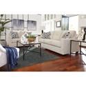 Ashley Furniture Cerdic Contemporary Queen Sofa Sleeper with Memory Foam Mattress