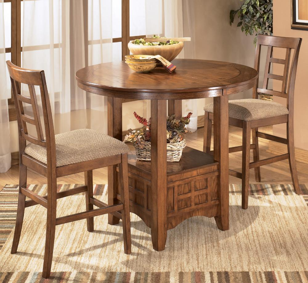 Ashley Furniture Cross Island 3-Piece Counter Height Ext Table Dining Set - Item Number: D319-42+2x324