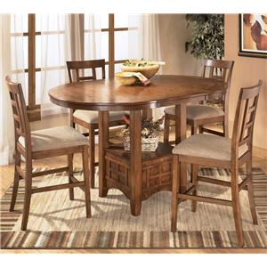 Ashley Furniture Cross Island 5Pc Counter Height Dinette