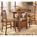 Ashley Furniture Cross Island Counter Height Extension Table - Shown as part of 3-piece table set
