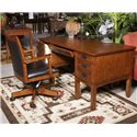 Ashley Furniture Cross Island Swivel Desk Chair with Adjustable Height - Shown with Small Leg Desk and 2 Drawer Mobile File Cabinet