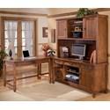 Ashley Furniture Cross Island 4 Piece L-Shape Desk - Item Number: H319-10+47+46+49