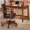 Ashley Furniture Cross Island Small Leg Desk with Keyboard Drawer - Shown with Adjustable Desk Chair