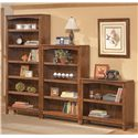 Ashley Furniture Cross Island Large Bookcase - H319-17 - Shown with Medium and Small Bookcase